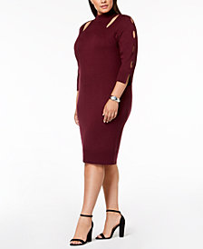 Love Scarlett Plus Size Cutout Sweater Dress