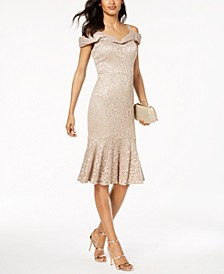 Lace Sweetheart-Neck Dress