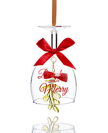 Holiday Lane Wine Glass Bell Ornament, Created for Macy's