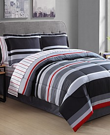 Arden Stripe 8-Pc. Full Comforter Set