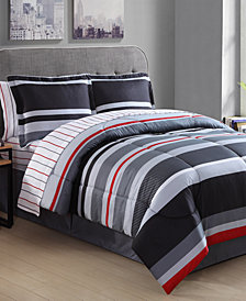 Arden Stripe 8-Pc. King Comforter Set