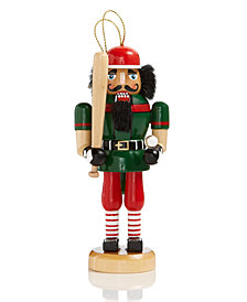 Holiday Lane Baseball Nutcracker Hanging Ornament, Created for Macy's