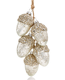 Holiday Lane Acorn Cluster Hanging Ornament, Created for Macy's
