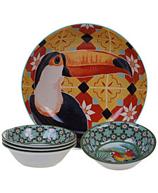 Certified International Paradise Melamine 5-Pc. Salad Set