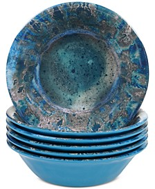 Radiance Teal Melamine All Purpose Bowl, Set of 6