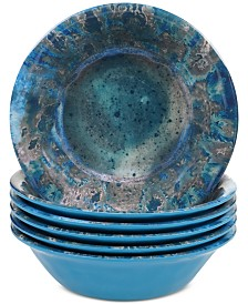 Certified International Radiance Teal All Purpose Bowl, Set of 6