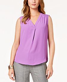 Nine West V-Neck Shell