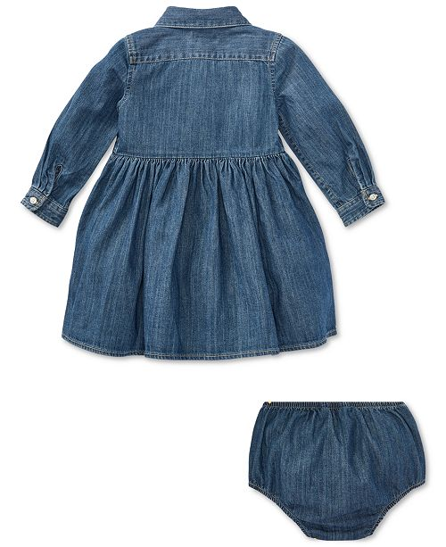 ef6f06583c Polo Ralph Lauren Baby Girls Denim Cotton Shirtdress   Reviews ...