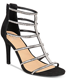 Material Girl Raissa Embellished Dress Sandals, Created for Macy's