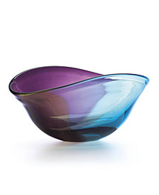 Lenox Nightfall Curved Crystal Oval Bowl