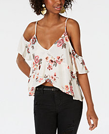Polly & Esther Juniors' Cold-Shoulder Crop Top