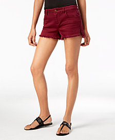 Vanilla Star Juniors' Frayed Ripped Denim Shorts