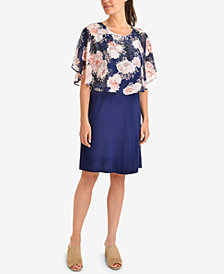 NY Collection Printed Popover Dress