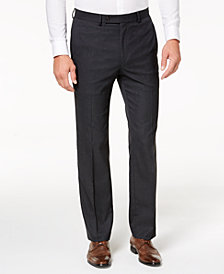 Lauren Ralph Lauren Men's Classic-Fit Ultraflex Stretch Charcoal Check Dress Pants