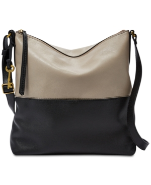 Image of Fossil Charlotte Colorblock Leather Crossbody Hobo
