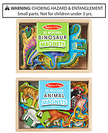 Melissa & Doug 2-Pk. Wooden Animals & Dinosaurs Magnets