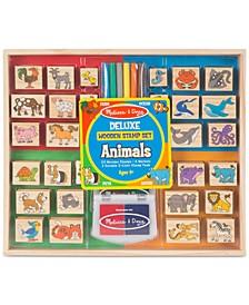 Melissa & Doug Animals Deluxe Wooden Stamp Set