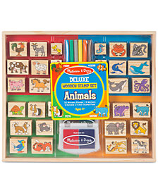 Melissa & Doug Animals Deluxe Wooden Stamp Set