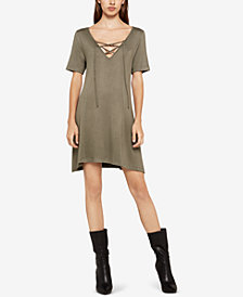 BCBGeneration Lace-Up A-Line Dress