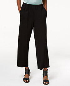 Eileen Fisher Stretch Jersey Wide-Leg Pants, Created for Macy's