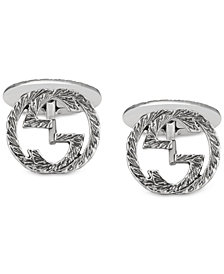 Gucci Men's Interlocking Cuff Links in Sterling Silver YBE45530500100U