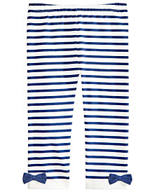 First Impressions Baby Girls Striped Bow Leggings, Created for Macy's