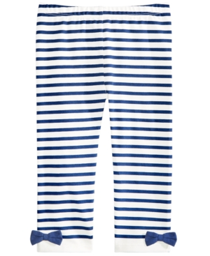 First Impressions Toddler Girls Striped Bow Leggings Created for Macys