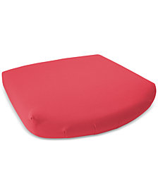 Soft-Tex 18x17 Red Outdoor Memory Foam Seat Cushion with Sunbrella Fabric, Quick Ship