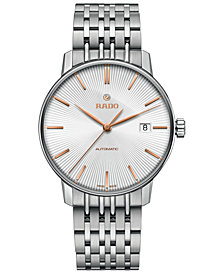 Rado Men's Swiss Automatic Coupole Classic Stainless Steel Bracelet Watch 37.7mm