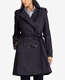 Lauren Ralph Lauren Belted Water Resistant Trench Coat