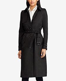 Lauren Ralph Lauren Belted Hooded Trench Coat