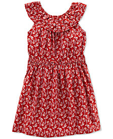 Carter's Little Girls Printed Ruffled Dress