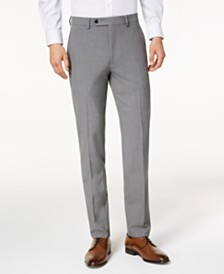 4e2ee33228 Calvin Klein Slim-Fit Solid Dress Pants   Reviews - Pants - Men - Macy s