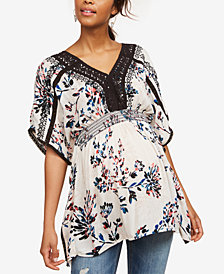 Motherhood Maternity Crochet-Trim Tunic