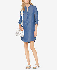 MICHAEL Michael Kors Petite Chambray Shirtdress