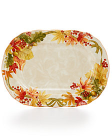222 Fifth Autumn Celebration Harvest Oval Platter