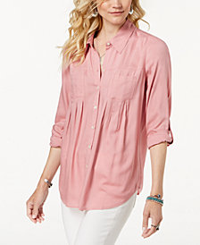 Style & Co Roll-Tab Shirt, Created for Macy's