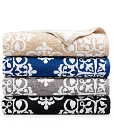 Elite Cotton Medallion Towel Collection, Created for Macy's