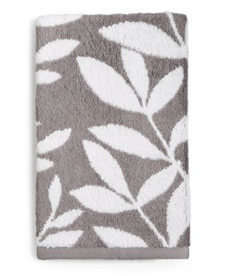 Elite Fashion Leaves Cotton Hand Towel, Created for Macy's