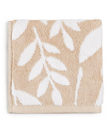 Charter Club Elite Fashion Leaves Cotton Wash Towel, Created for Macy's