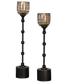 Lula Oil Rubbed Bronze Candleholders Set of 2