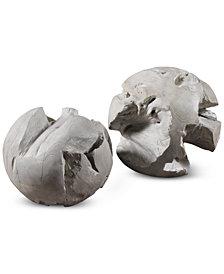 Uttermost Ermanno Set of 2 Teak Balls
