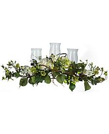 Hydrangea Triple Candelabrum Artificial Centerpiece