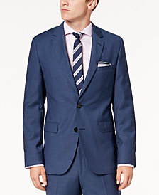 Hugo Boss Men's Modern-Fit Blue Mini-Check Suit Jacket