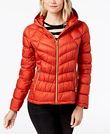 MICHAEL Michael Kors Hooded Packable Puffer Coat