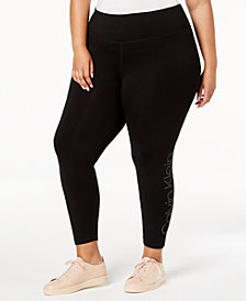 Calvin Klein Plus Size Performance Logo Leggings