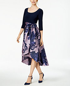 R & M Richards High-Low Contrast Dress
