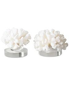 Set of 2 Hard Coral Sculptures