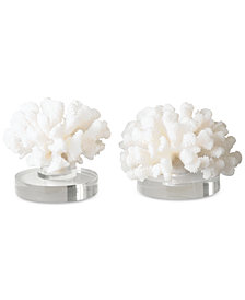 Uttermost Set of 2 Hard Coral Sculptures