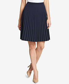 Tommy Hilfiger Pleated Twill Skirt